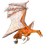 Miniatyrguld- drake Arkivbild