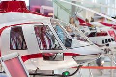 Miniatyrhelikopter på den internationella utställningen Fotografering för Bildbyråer