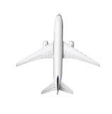 Miniatyrmodell av den kommersiella jetflygplanet Royaltyfria Foton
