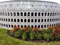 MiniatyrRoman Colosseum royaltyfria bilder