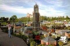 Miniatyrstad Madurodam, Haag, Nederländerna Royaltyfria Bilder