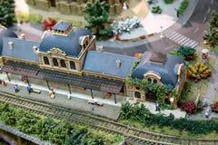Miniaure Vilnius för järnväg museum modeller Royaltyfri Bild