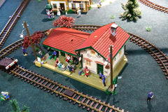 Miniaure Vilnius för järnväg museum modeller Royaltyfria Foton