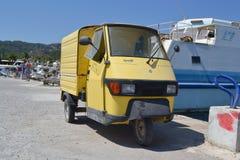 Miniauto der alten Fracht Stockfoto