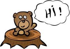 Minibear - hallo! Stock Foto's