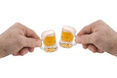 Minibecher Bier Stockfotografie