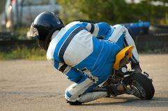 Minibike. Racing Royalty Free Stock Photo