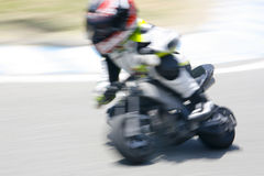 Minibike motion blur Royalty Free Stock Image