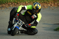 Minibike racing II Royalty Free Stock Photo