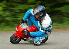 Minibile Racing. Minibike racing with visible panning Stock Image