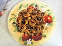 Minibrötchen mit Zimt Stockfoto