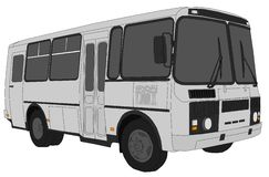 Minibus. Illustration of a grey suburban minibus Royalty Free Stock Photography