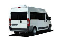 Minibus achtermening stock afbeeldingen