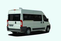 Minibus back view Royalty Free Stock Image