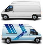 Minibus in blue Stock Images