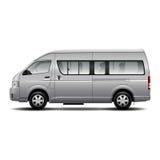 Minibus car. Design element. Vector Illustration Stock Photo