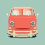 Minibus cartoon colorful vector illustration Royalty Free Stock Photo