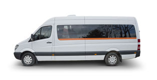 Minibus - Clipping Path Included. Isolated on white royalty free stock photography