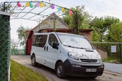 Minibus at the countryside Royalty Free Stock Images