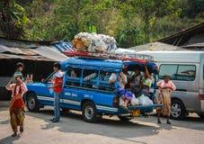 Minibus della campagna Fotografia Stock