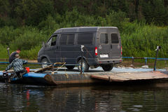 Minibus dos tranports do Ferryman foto de stock royalty free