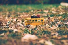 Minibus on grass