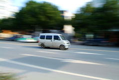 Minibus at high speed Royalty Free Stock Photos