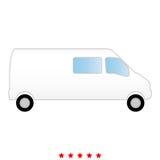 Minibus it is icon . Minibus  it is icon . Flat style Royalty Free Stock Photos