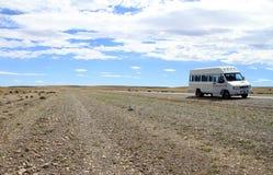 Minibus na poboczu zdjęcie stock