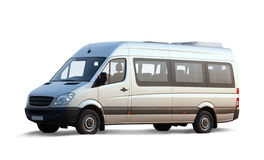 Minibus no branco Fotos de Stock Royalty Free