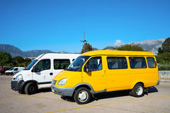 Minibus on the parking Stock Photography