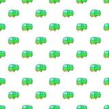 Minibus pattern, cartoon style. Minibus pattern. Cartoon illustration of minibus vector pattern for web Stock Images