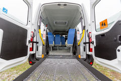 Minibus physically disabled Royalty Free Stock Photography