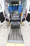 Minibus physically disabled. Minibus for physically disabled people Royalty Free Stock Photos