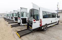 Minibus physically disabled Royalty Free Stock Images