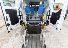 Minibus physically disabled Royalty Free Stock Photos