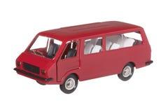 Minibus rosso Immagine Stock