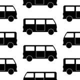 Minibus symbol seamless pattern Stock Image