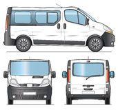 Minibus template Stock Photo