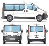 Minibus template. Minibus, Minivan combi template - Layout for presentation Stock Photo