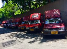 Minibus in Thailand Royalty-vrije Stock Foto's