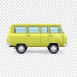 Minibus on transparent background Stock Photos