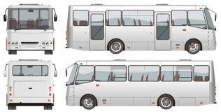 Minibus urbano do passageiro do vetor Foto de Stock