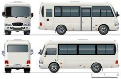 Minibus urbano do vetor Fotos de Stock