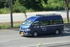 Minibus, van route lamnpang en maeprik Royalty-vrije Stock Afbeelding