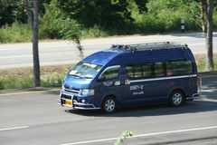 Minibus, van route lamnpang and maeprik. Popular  transport in thailand. cheap and fast Royalty Free Stock Image