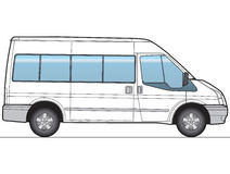 Minibus Vector. Minibus, bus - Layout for presentation - vector Royalty Free Stock Photos