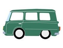 Minibus. Vector, cartoon illustration of minibus Stock Photography