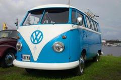 Minibus Volkswagen T1 Kombi 1950 at an exhibition of retro transport Stock Images