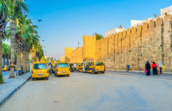 Minibuses of Sousse Stock Photo